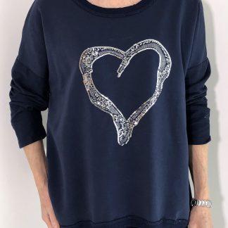 Sequin Heart Sweatshirt