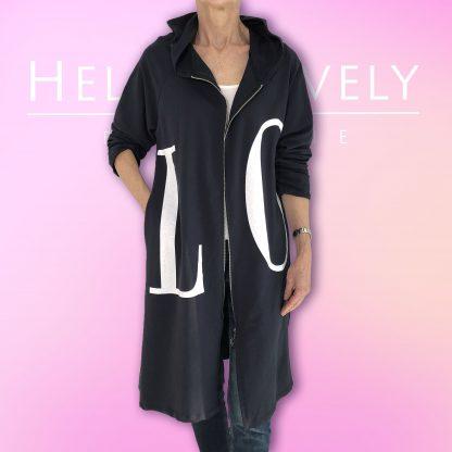 LOVE hooded jacket