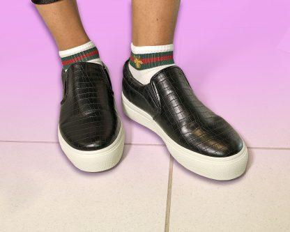 black slip on shoe