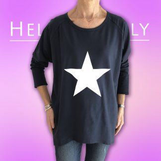 white star sweatshirt