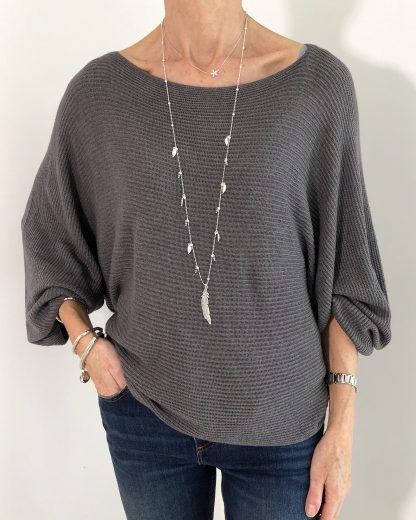 ribbed batwing jumper