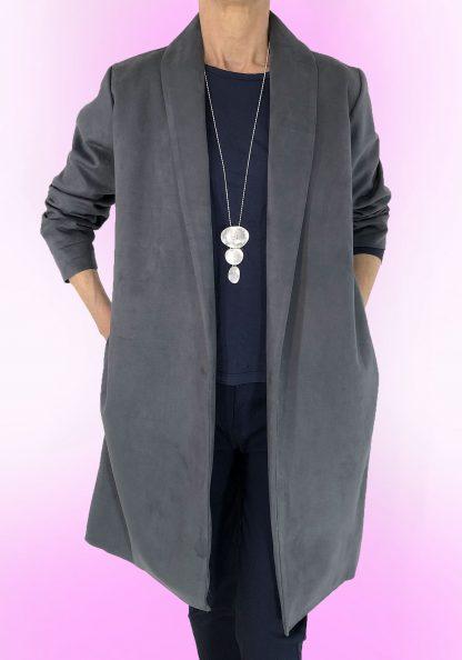 faux suede coat