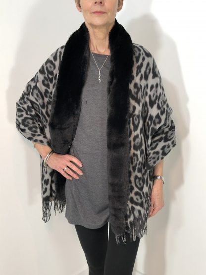 Faux Fur Animal Print Throw