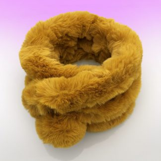 faux fur button collar