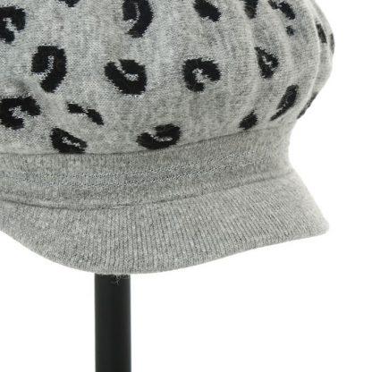 leopard peak wool hat