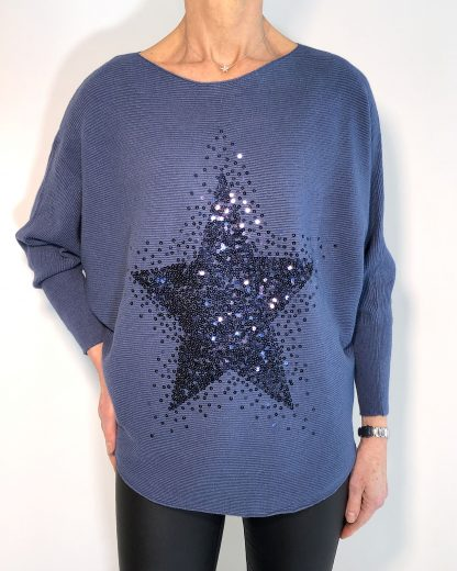 Sequin Star Batwing
