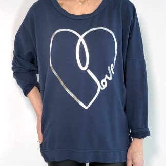 Love Heart Zip Sweatshirt