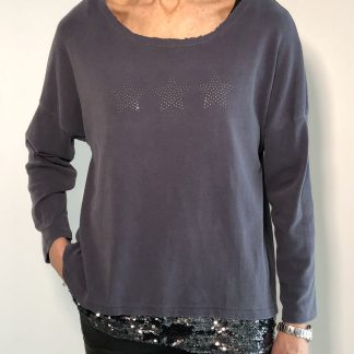 sequin and stud star top