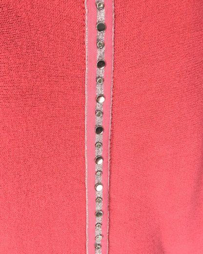stud braid back jumper