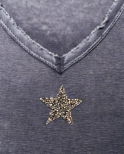 washed effect glitter star t shirt