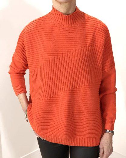 rib block knit jumper