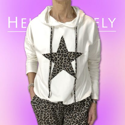 Leopard star top