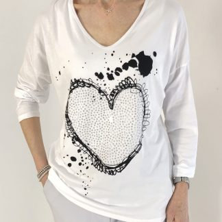 cotton heart T shirt