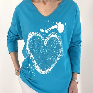 cotton heart T shirt