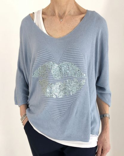 heart and lips jumper