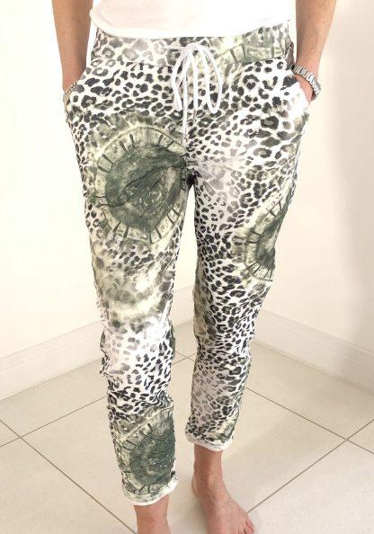 Tie Dye Animal Print Magic Trouser