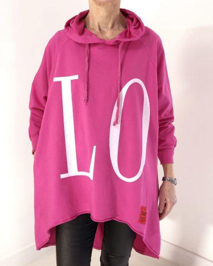 love hooded top