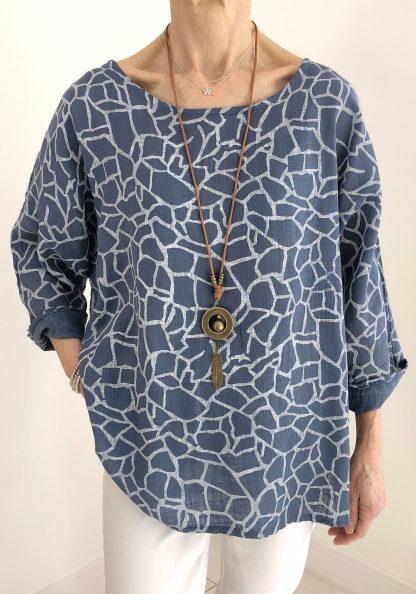 Giraffe Print Necklace Top