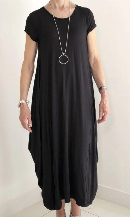 cap sleeve parachute dress