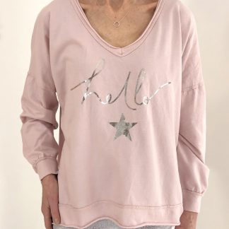 hello star sweatshirt