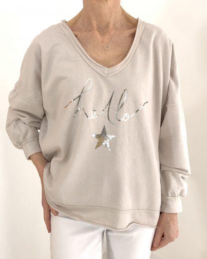 hello star sweatshirt