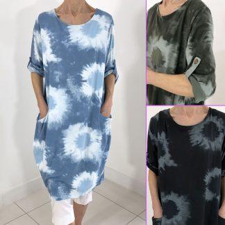 Tie Dye Pocket Dress