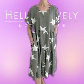 tiered star dress