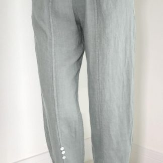 linen button trousers