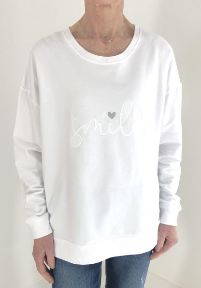 smile zip sweatshirt