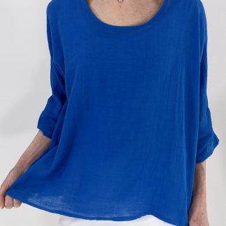 basic cotton-linen top