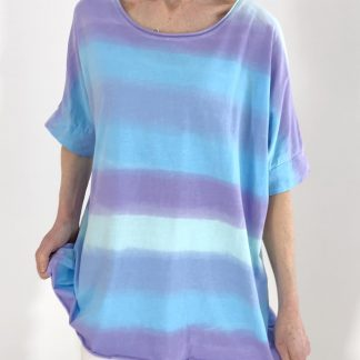 raw edge dip dye T shirt