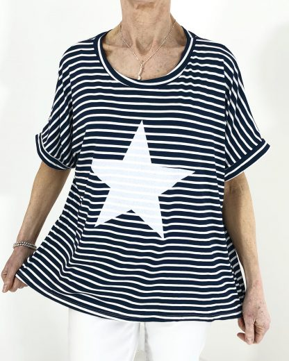 stripe star T shirt