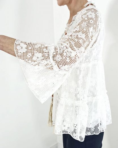 lace tiered jacket