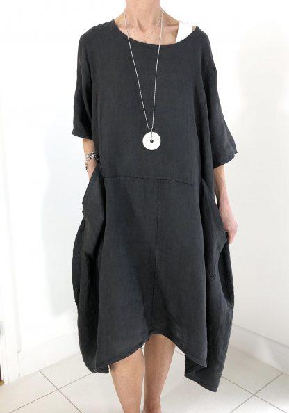 linen dress two pocket