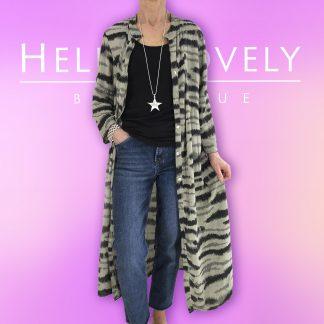 zebra print coat dress
