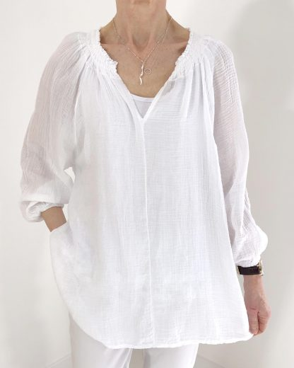 lightweight cheesecloth blouse