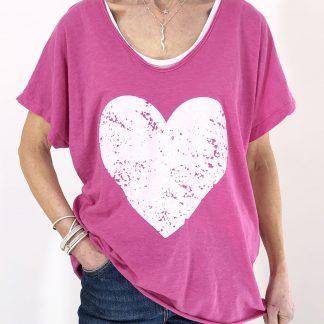 distressed heart T shirt