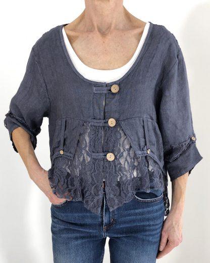 lace linen jacket