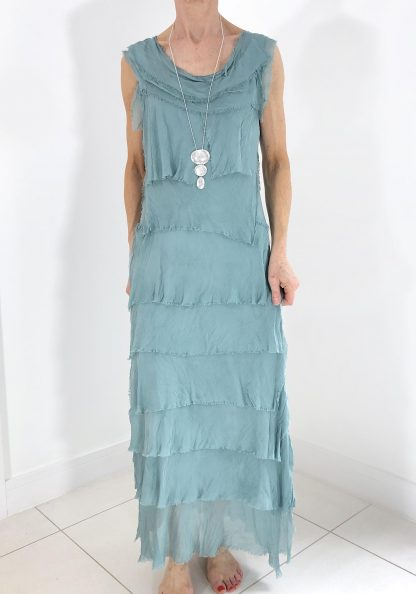 silk shred dress