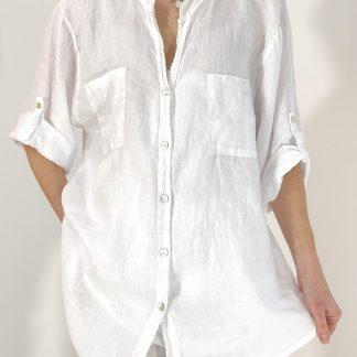 sequin trim shirt