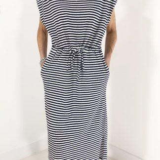 stripe waisted dress