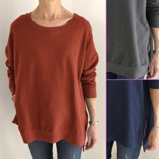 zip details sweatshirt