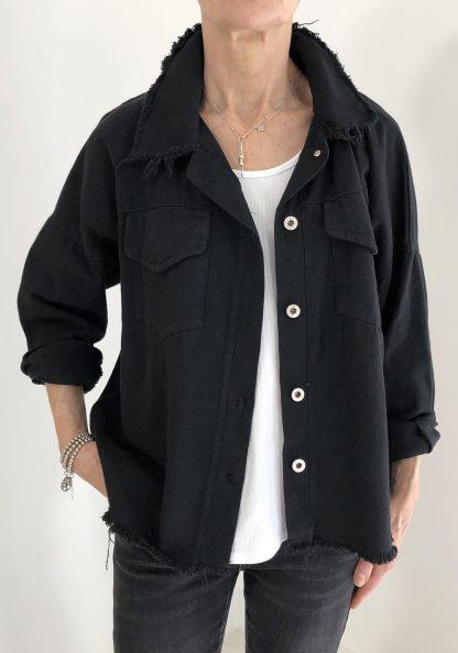 paint denim jacket