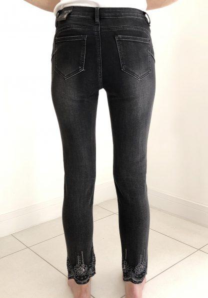 sequin detail jeans