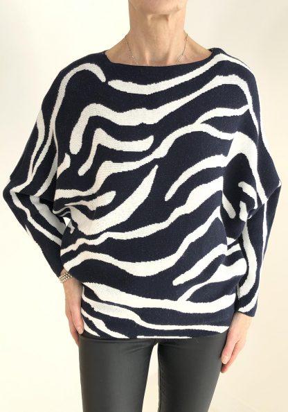zebra batwing jumper