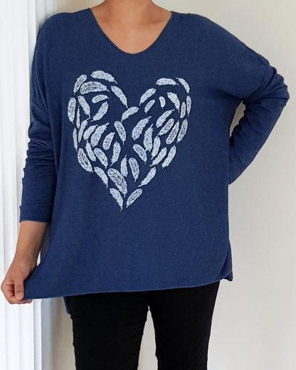 Feather and Silver Stud Knit