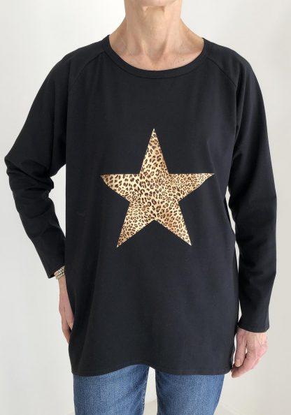 leopard star top