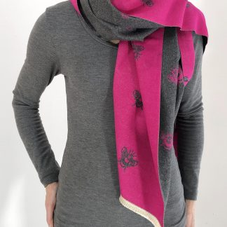 reversible bee scarf